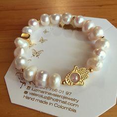 Pulsera de perlas by Luz Marina Valero Jewelry #pulseras #bisuteria #pulserasdebisuteria #mujer #peru