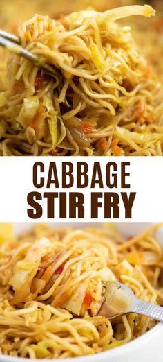 Stir Fry Recipes, Veggie Recipes, Vegetarian Recipes, Cooking Recipes, Healthy Recipes, Healthy Food, Vegetarian Ramen, Vegetarian Italian, Ramen Noodles Recipes Easy