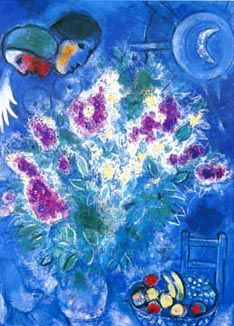 Still Life with Flowers (1948) - Marc Chagall