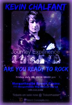 Poster I did for Kevin Chalfant Journey Experience upcoming concert. Legendary Rock..xxamk