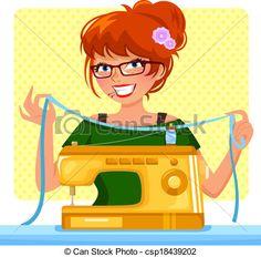 ilustraciones maquinas de coser - Buscar con Google