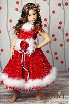 """Holiday Romance""... A Gorgeous Minky Dress with Maribou Trim"