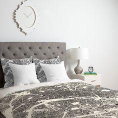 CityFabric Inc Paris White Duvet Cover   DENY Designs Home Accessories