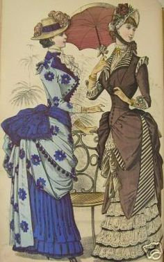 "Bustles c. 1880's style - ""I have put together a massive post on vintage clothing, most specifically the Victorian and Edwardian eras, in relation to lolita fashion. Lost of pics, lots of text and info"""