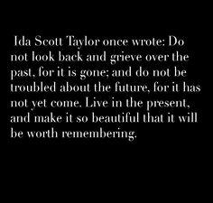 worth remembering, Ida Scott Taylor