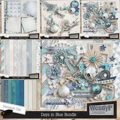 Days in Blue - Bundle :: Memory Mix: Dec. 2013 :: Past Memory Mix :: Memory Scraps