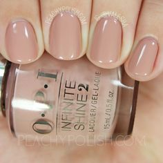 """OPI """"Dulce De Leche"""" polish/gel from its 2016 Infinite Shine Iconic Collection. Very soft and pretty neutral. Opi Nails, Nude Nails, Shellac Toes, Milky Nails, Nail Lacquer, Neutral Nails, Nail Colors For Pale Skin, Neutral Nail Color, Nagel Gel"""