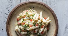 Pasta with Greek tzatziki sauce by Greek chef Akis Petretzikis! A unique dish for pasta! Penne pasta tossed with an authentic, delicious Greek tzatziki sauce! Crab Pasta Recipes, Mayo Pasta Salad Recipes, Easy Pasta Salad Recipe, Salad Recipes Video, Salad Recipes For Dinner, Healthy Salad Recipes, Sauce Recipes, Raw Food Recipes, Orzo