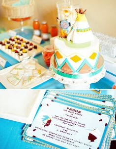 what little boy would not LOVE this cowboy & Indian themed birthday party?!