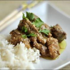 Curry di manzo con basmati. Condivisa da: http://lacucinadiziaale.blogspot.it