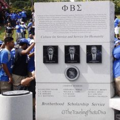 Phi Beta Sigma Monument unveiling.         I was there!!!!!!
