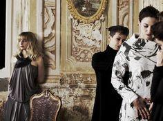 Durante la lavorazione del corto Aurora con Floriana Orsetto, designer e proprietaria del marchio Malloni. Sullo sfondo Francesca Cuttica.