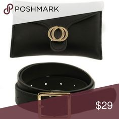 6da3b1ef95e344 Faux Leather Double O Ring Belt Bag Faux leather double metal ring belt