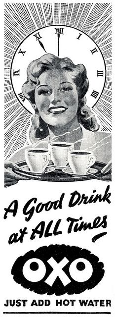 Oxo makes a good drink at all times! #vintage #1940s #food #ads