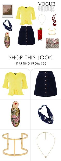 """""""casual chic"""" by rarry8 on Polyvore featuring Topshop, Miss Selfridge, Gucci, Maria Francesca Pepe and Impossible Project"""