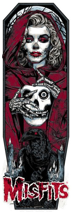 Studio Seppuku - The Art of Rhys Cooper — MISFITS GHOST art print - CRIMSON RED