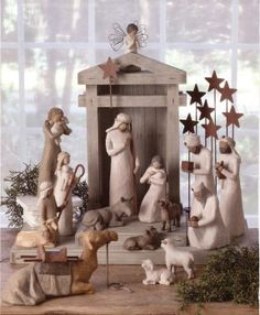 Images of beaded nativity sets | Nativity -17 Piece Set - Willow Tree Nativity 17PC_NAT_KIT | Demdaco
