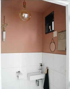 Big Bathrooms, Laundry In Bathroom, Small Bathroom, Wc Decoration, Wc Design, Downstairs Toilet, Minimalist Apartment, Paint Colors For Home, Home Decor Bedroom