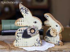retro easter bunny, vintage