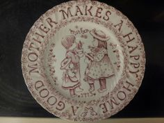 1973 Norma Sherman A Good Mother Makes Happy Home Plate Crownford China England