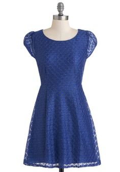 cobalt blue lace over satin New Little Blue Dress, #ModCloth solid #bluebridesmaidfogarty