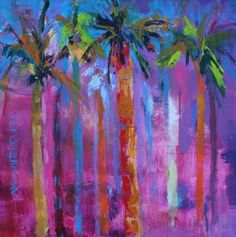 """""""Miami Beach Contemporary Landscape Paintings by Arizona Artist Amy Whitehouse"""" - Original Fine Art for Sale - © Amy Whitehouse"""