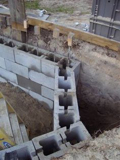 Home built swimming pool building a swimming pool in - Cinder block swimming pool construction ...