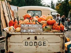 Pumpkins in Vintage Truck Fall Pumpkins in Vint Fall Pictures, Fall Photos, Lightroom, Lifestyle Fotografie, Autumn Cozy, Autumn Fall, Autumn Harvest, Autumn Leaves, Autumn Photography