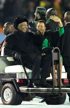 Nelson Mandela during the 2010 FIFA World Cup South Africa Final match between Netherlands and Spain at Soccer City Stadium on July 2010 in Johannesburg, South Africa. Soccer City, Soccer World, Nelson Mandela Family, Black Presidents, Kwazulu Natal, July 11, Great Leaders, North Africa, Fifa World Cup
