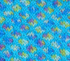 Two Color Lattice Knitting Stitch Pattern