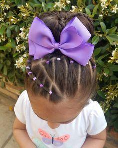 Today's Hairstyle 💜 #hotd #hairforlittlegirls #hairstylesfortoddlers #toddlerhair #toddlerhairstyles #toddlerhairideas…