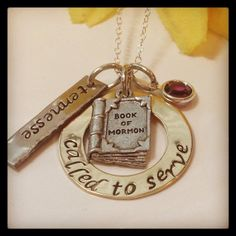 Hand Stamped Called to Serve Missionary necklace-missionary-called to serve-LDS Jewelry-Book of Mormon necklace on Etsy, $35.00