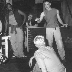 James McAvoy in the West Side Story/Romeo and Juliet production at The Courtyard in 1998