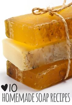 Homemade soap recipes make a wonderful gift for friends and family. DIY soap can be easy to make, and it makes a fun weekend project. Happy soap-making! by tina Homemade Soap Recipes, Homemade Gifts, Soap Making Recipes, Homemade Beauty Products, Natural Products, Beauty Recipe, Home Made Soap, Handmade Soaps, Diy Soaps