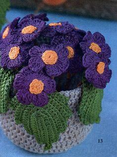 121 Besten Häkelblumen Bilder Auf Pinterest Yarns Crochet Flowers