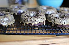 Peanut Butter Glazed Brownie Doughnuts. BROWNIE DOUGHNUTS.