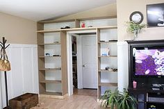 How To: DIY Built Ins - I would love a wall of shelves... I just need a roomier house...
