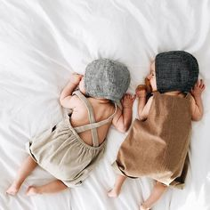 Crossing my fingers that I can fall asleep tonight with all this excitement. In case you didn't see, the floral collection will be shoppable tomorrow at 9am PST. (These sweet new babes are wearing two bonnets from the basics collection. Thanks for sharing, @whitneyjohnson!) #briarhandmade