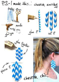 DIY Chevron Earrings Pictures, Photos, and Images for Facebook, Tumblr, Pinterest, and Twitter