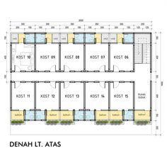 Boarding House Tempat Kost Pada Lahan Memanjang Upper Floor Plan Denahrumah Desainrumah Arsitek Rumahtropis Denah Rumah Denah Lantai Rumah Denah Lantai