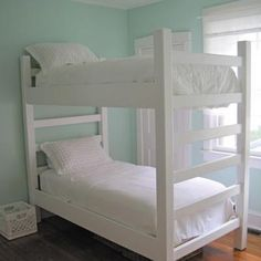 Build your own bunk bed plans Bunk Bed Plans that you can build for kids and adults Pine Bunkbeds The good news is And I was eager to get it put Bunk Beds With Stairs, Kids Bunk Beds, Adult Bunk Beds, Bed Stairs, White Bunk Beds, Twin Bunk Beds, Girl Room, Girls Bedroom, Diy Bunkbeds