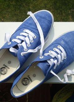 Kupuj mé předměty na #vinted http://www.vinted.cz/damske-boty/tenisky/15668943-modre-tenisky-z-deichmannu