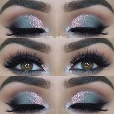 23 Glam Makeup Ideas for Christmas: #11. ICY SHIMMER #makeup