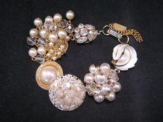 Vintage Earring Bracelet Bridesmaid Gift by JenniferJonesJewelry