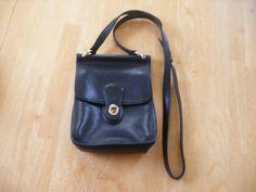 Vintage Black Leather Field Manor Cross Body by magentamoon77, $25.00