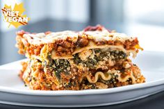 This vegan lasagna is the real deal—hearty, full of protein and a vegan spinach ricotta. Absolutely delicious for vegans and omnis alike :)