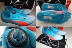 PUMA USAIN BOLT EvoSPEED DISC Running Spikes Shoes 1888031 Track and Field UK 9 #PUMA #RunningSpikes