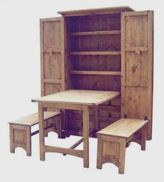 "Cowboy Kitchen (Brown) (79.00""H x 43.00""W x 20.00""D): Million Dollar Rustic Furniture {this is ingenious!!}"