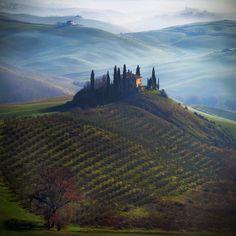 Tuscany, cold atmosphere of a winter morning .. by Edmondo Senatore, via 500px