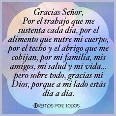 Gracias Señor Posted on PRAYER fb page July 2017